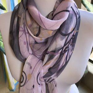 Lilac, purple, gold graphic design square scarf